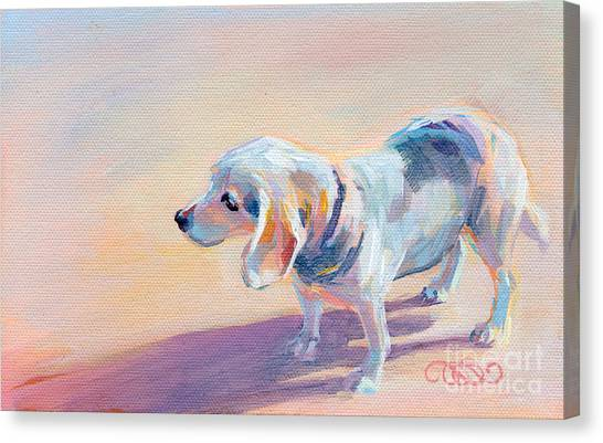 Beagles Canvas Print - Twilight by Kimberly Santini