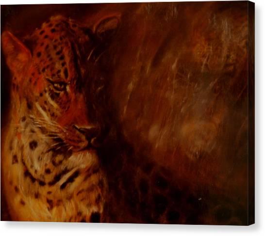 Twilight Leopard Canvas Print by Arlene Rabinowitz