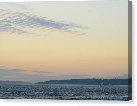 Twilight Moment In Puget Sound Canvas Print