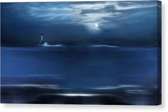 Twilight Moon Canvas Print