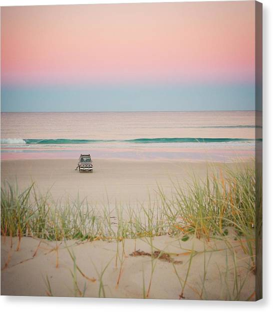 Twilight On The Beach Canvas Print