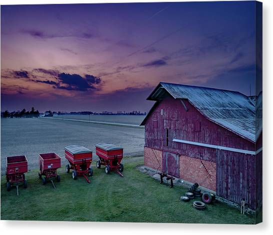 Twilight On The Farm Canvas Print