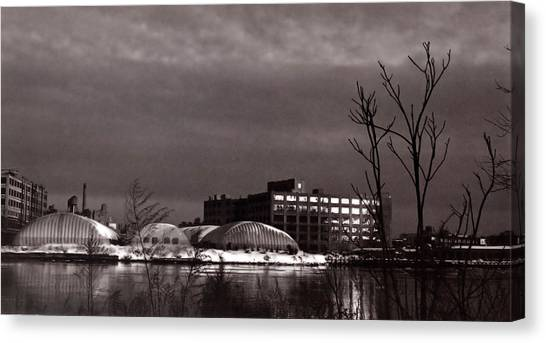 Twilight On The Other Side Canvas Print by Andrea Simon