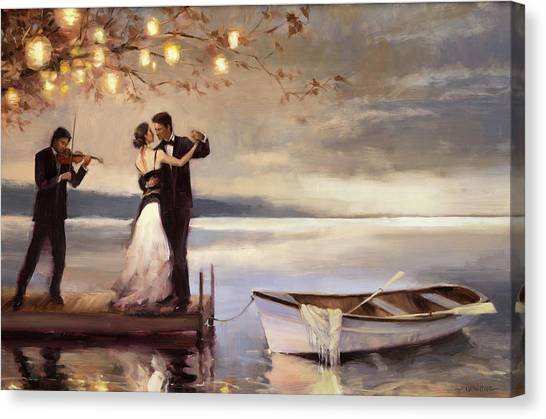 Boat Canvas Print - Twilight Romance by Steve Henderson