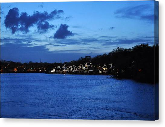 Twilight Row Canvas Print