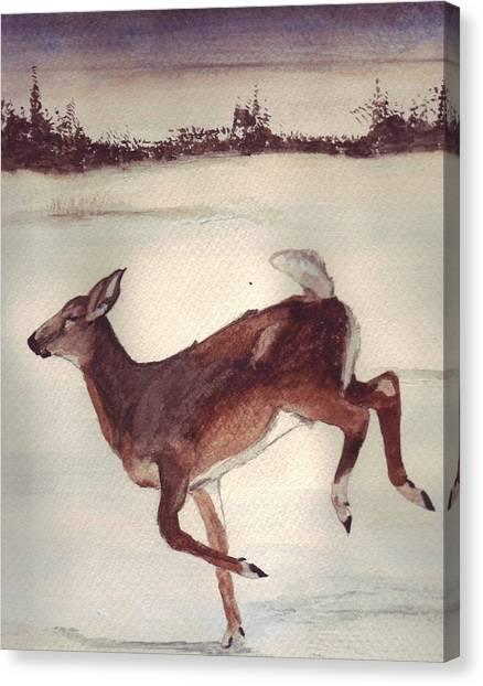 Twilight Run Canvas Print by Debra Sandstrom