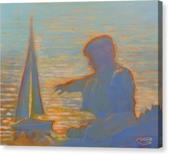Twilight Sailor Canvas Print by Kip Decker