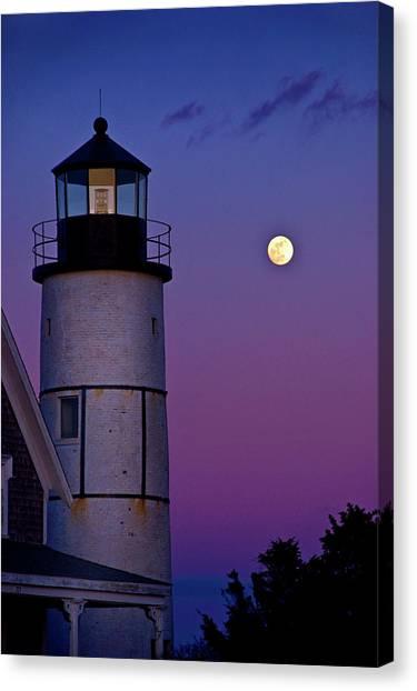 Twilight At Sandy Neck Lighthouse Canvas Print