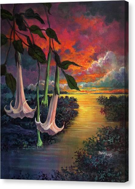 Twilight Trumpets Canvas Print