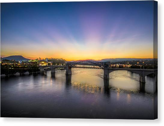 Twilight View, Chattanooga Canvas Print