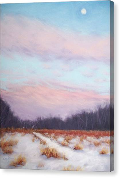 Twilight Winter Whisper Canvas Print by Christine Camp