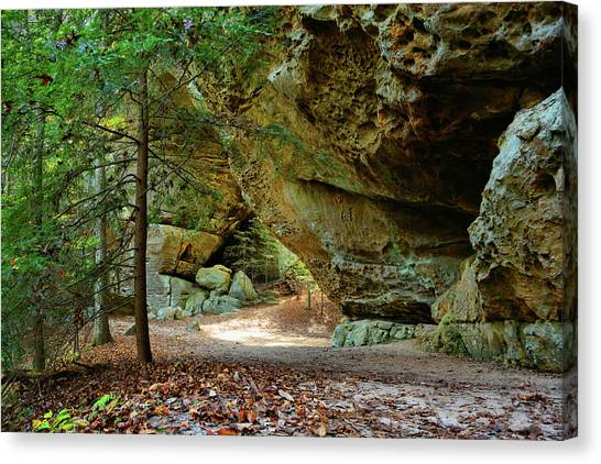 Big South Canvas Print - Twin Arches - Big South Fork by Ben Prepelka