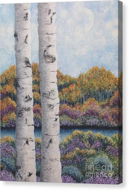 Twin Aspens Canvas Print