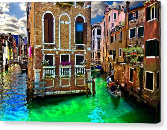 Twin Canals Canvas Print