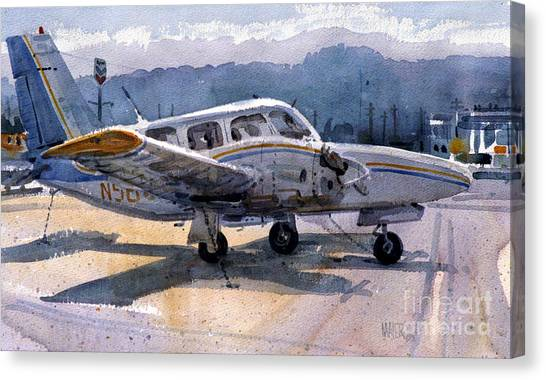 Cessnas Canvas Print - Twin Engine by Donald Maier