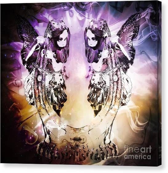 Twin Fairies 2 Canvas Print