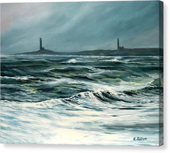 Twin Lights Rockport Ma Canvas Print