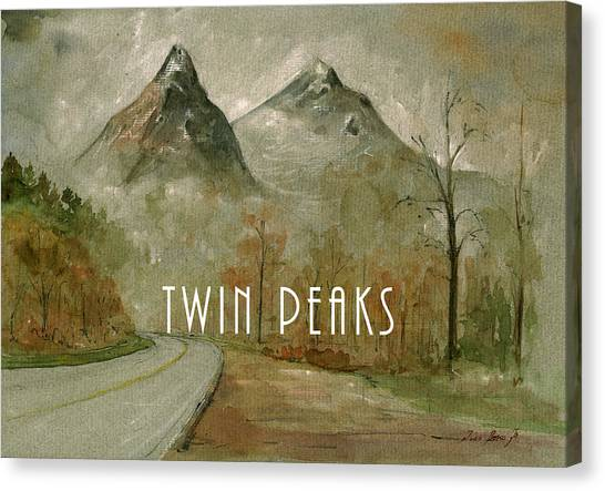 Twins Canvas Print - Twin Peaks Poster Painting by Juan  Bosco