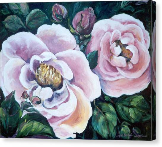 Twin Roses Canvas Print