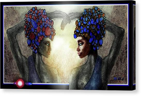 Twin Sisters Canvas Print