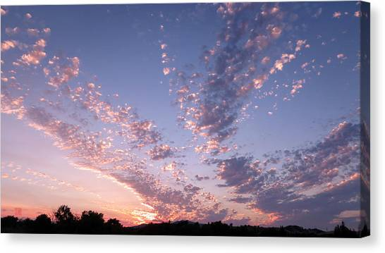Twin Sisters Sunset Canvas Print