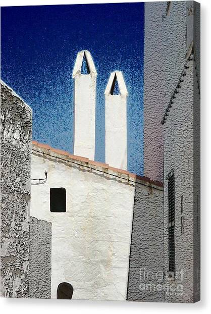 Canvas Print featuring the photograph Twin Stacks by Dee Flouton