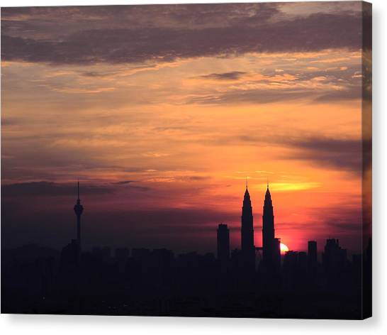 Twin Tower Canvas Print
