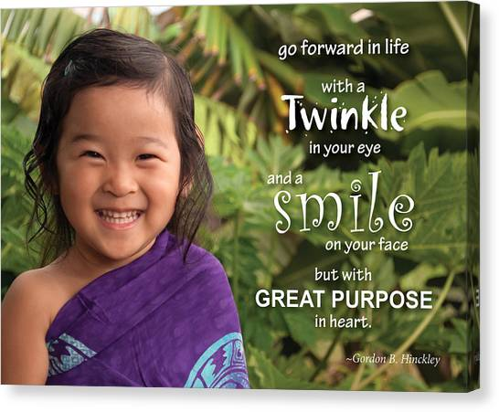Twinkle Smile Canvas Print
