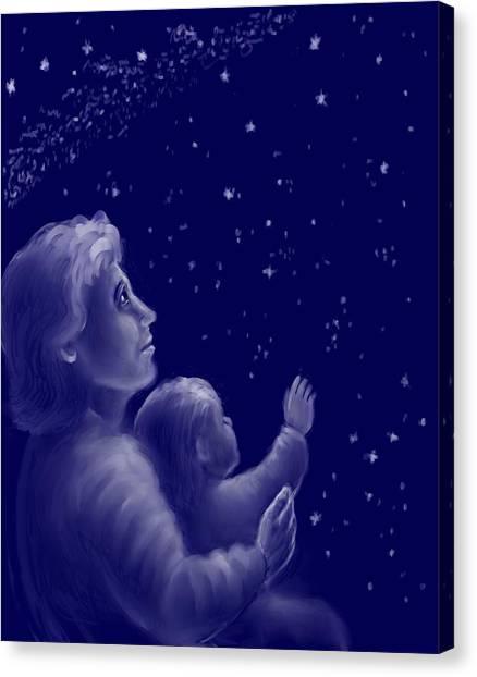 Big Sister Canvas Print - Twinkle Twinkle Little Star by Dawn Senior-Trask