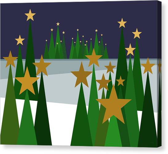 Twinkling Forest Canvas Print