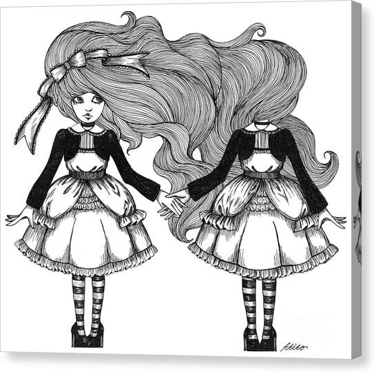 Twins Alice Canvas Print