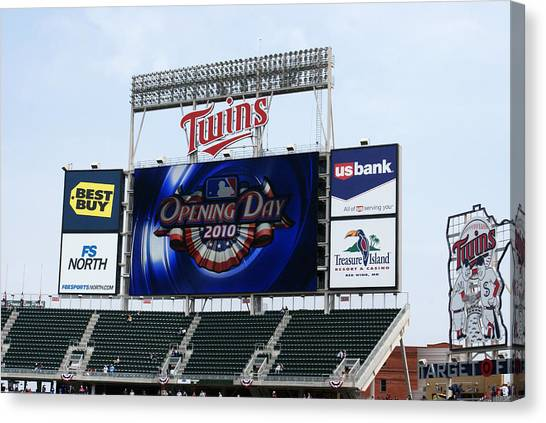 Twins Home Opener 2010 Canvas Print