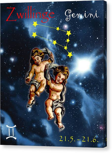 Canvas Print - Twins Of Heaven by Johannes Margreiter