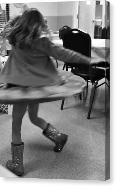 Twirling Girl  Canvas Print