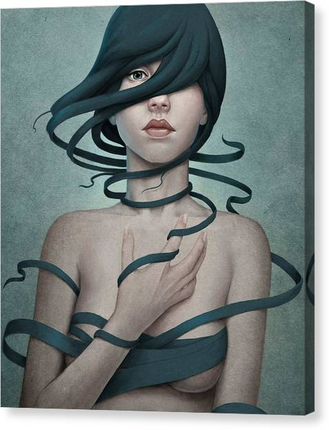 Girl Canvas Print - Twisted by Diego Fernandez
