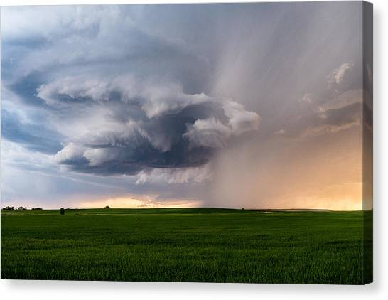 Hailstorms Canvas Print - Twisted by Eugene Thieszen