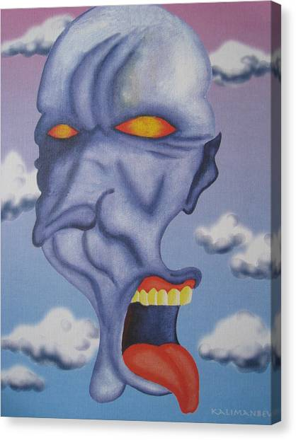 Twisted Face Canvas Print by Roger Golden