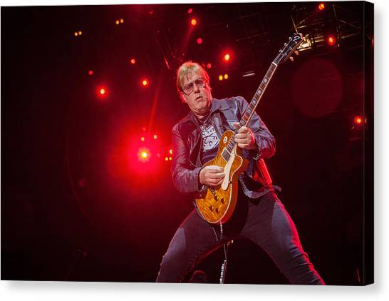 Canvas Print featuring the photograph Twisted Sister - Jay Jay French by Stefan Nielsen