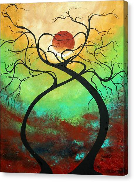 Canvas Print - Twisting Love II Original Painting By Madart by Megan Duncanson