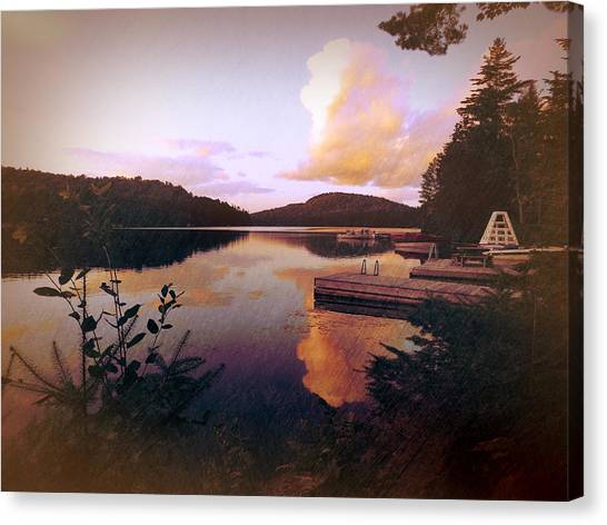 Canvas Print featuring the photograph Twitchell At Sunset by Christopher Meade