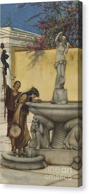 Hellenistic Art Canvas Print - Twixt Venus And Bacchus by Lawrence Alma-Tadema