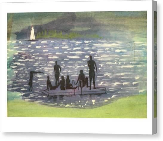 Twlight Swim  Canvas Print by Hal Newhouser