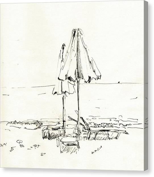 Fineart Canvas Print - Two Umbrellas by Karina Plachetka