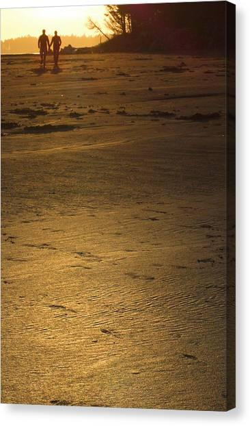 Two At Sunset Canvas Print