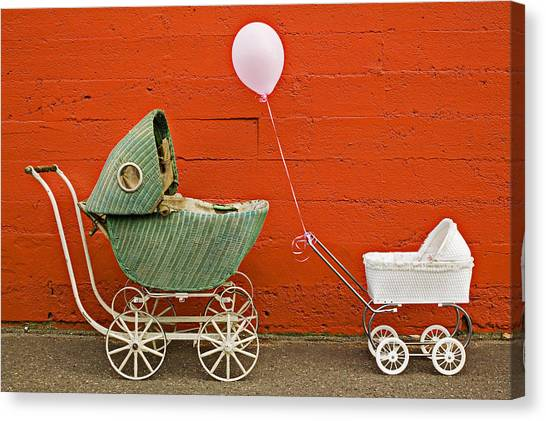 Balloons Canvas Print - Two Baby Buggies  by Garry Gay