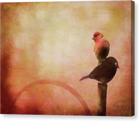 Two Birds In The Mist Canvas Print