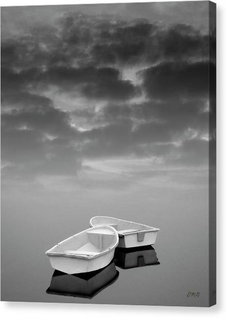 Two Boats And Clouds Canvas Print
