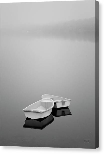 Two Boats And Fog Canvas Print