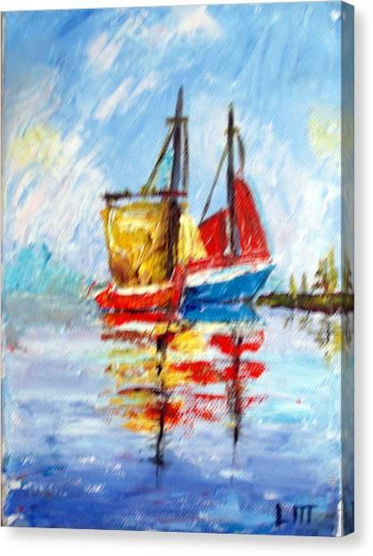 Two Boats Canvas Print by Lia  Marsman