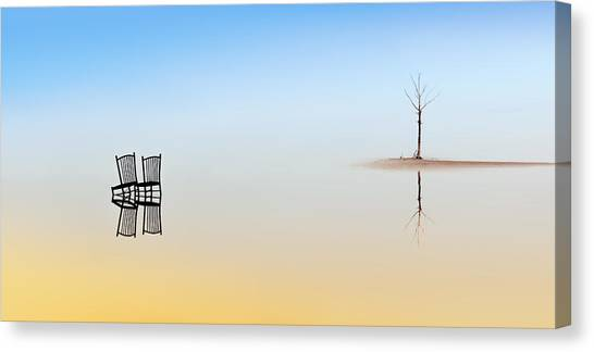 Turkey Canvas Print - Two Chairs And A Tree by Juan Luis Duran